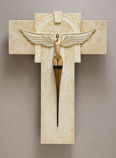 'Arch Angel' By John Morris Timber, watercolour paper, paint 23.5 x 31.5cm x 4.5cm $2000