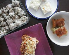 Siomai. Maja. Cassava. Spaghetti. All served in prayer meeting and my breaky.