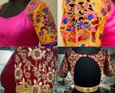 Beautiful hand work designer blouses by Ranipink Studio. For inquiries contact: Ranipink Studio, Bangalore +91 88846 20620 Related PostsPuff Sleeves Pearl Work BlouseTop 10 Blouse Designs for Wedding Silk SareesStunning Wedding Blouse DesignsCut Work Blouse Designs for Silk Sarees