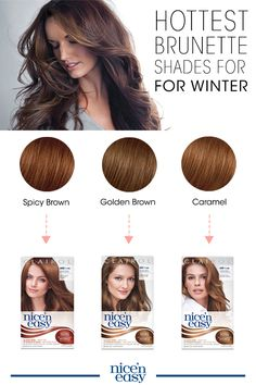 Warm up your hair color this winter with a brunette shade update. Check out the hottest brunette shades and get winter hair color ideas to spice up your holiday season from the color experts at Clairol.