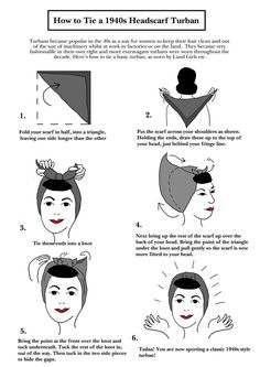 how to tie a head scarf 1940s - Google Search