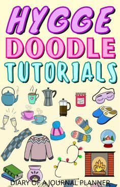 The Hygge doodle tutorials you need to try out in your bullet journal! #hygge #doodles #buleltjournaldoodles Happy Doodles, Bujo Doodles, Simple Doodles, Doodle Sketch, Doodle Drawings, Doodle Learn, Coffee Doodle, Doodle Quotes, Bullet Journal Art