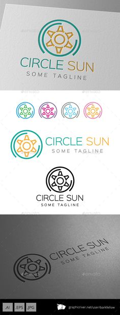 Six Side Circle Sun Logo — Vector EPS #professional #corporate • Available here → https://graphicriver.net/item/six-side-circle-sun-logo/9249334?ref=pxcr