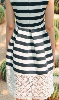 Stripes + lace