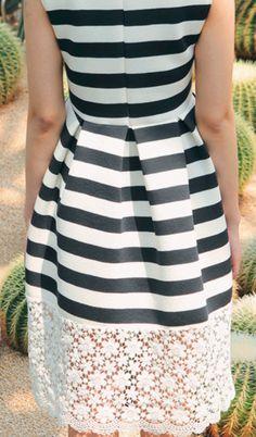 Stripes + lace