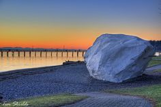 The White Rock and Pier in White Rock, BC by GlacierTim, Best Places To Travel, Places To Visit, Landscape Photos, Landscape Photography, O Canada, Take Better Photos, Cool Landscapes, Vancouver Island, Places Around The World