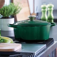 The Gilded Edge On Instagram We Absolutely Love New Le Creuset Kale It S A Lovely Warm Green That Looks As Nice In Contemporary Kitchens Does
