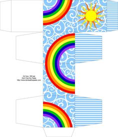 make your own rainbow box