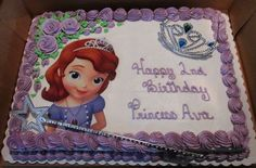 Princess Sophia Cake, Disney Princess Birthday Cakes, Princess Sofia Party, Bolo Sofia, Sofia Cake, 6th Birthday Parties, 1st Birthday Girls, Birthday Ideas, Sofia The First Birthday Cake