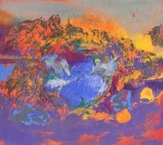 "Saatchi Art Artist Patricia Cunjak; Painting, ""Violet"" #art"