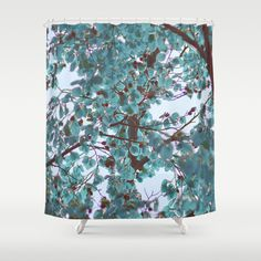 Customize your bathroom decor with unique shower curtains designed by artists around the world. Made from 100% polyester our designer shower curtains are printed in the USA and feature a 12 button-hole top for simple hanging. The easy care material allows for machine wash and dry maintenance. Curtain rod, shower curtain liner and hooks not included. Dimensions are 71in. by 74in. #juledecule #society6 #showercurtain #turquoise #design #unique