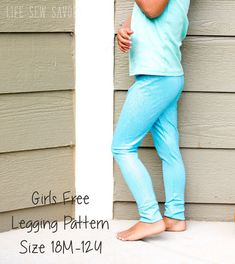 Use this free classic legging pattern for girls to make this simple wardrobe staple. Long for winter and short for summer this is a must sew for girls. In sizes 18M - 12Y it's a free pattern you dont want to miss.