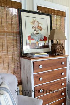 Savvy Southern Style:Artissimo Miss Mustard Seed paint frame makeover