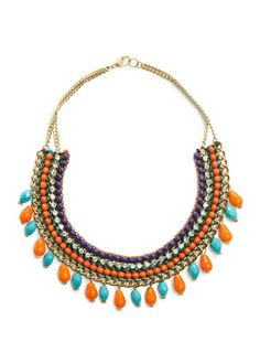 MANGO - Multicolored ethnic necklace