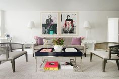Shop This Look: Modern Chic White and Gray Living Space >> http://photos.hgtv.com/rooms/viewer/living-space/living-room/modern/chic-white-and-gray-living-room-?soc=pinterest
