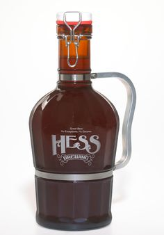 Beer growler fro Hess Brewing