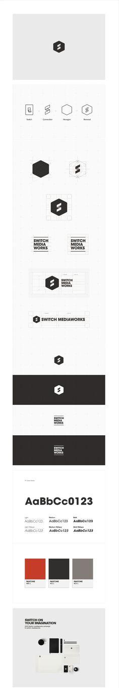 Switch Mediaworks CI, via Behance | #stationary #corporate #design…