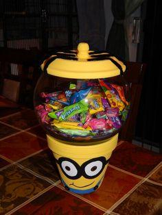 Minion clay pot candy bowel