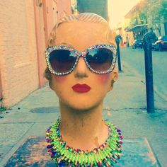 French quarter floozie strikes again in her fabulous sparkle shades.... #moonshinenettie #mardigras#carnival#mardigras2016 #swarovski #sparkles#glamourous #oldhollywood #floozy #parade#frenchquarter#followyournola#iheartnola#igersneworleans #nolastyle#letthegoodtimesroll #nolaliving #mannequin#vintagenola#vintageneworleans #neworleansvintage #chartresstreet #neworleans#thatlacommunity  Moonshine Nettie is located in the heart of the French quarter by moonshinenettie