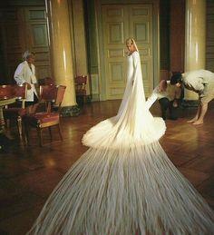 My favorite royal wedding dress.   Crown Princess Mette-Marit of Norway.