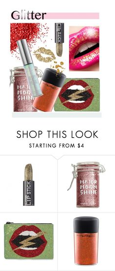 """""""Glitter"""" by hellodollface ❤ liked on Polyvore featuring beauty, Alexis Mabille, Major Moonshine, I Know The Queen, MAC Cosmetics, Urban Decay and glitterlips"""