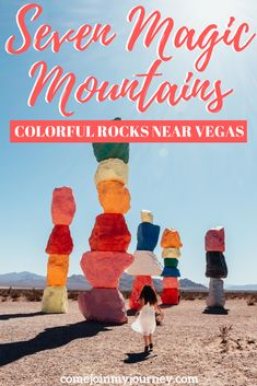 Seven Magic Mountains: Colorful Rocks Near Vegas - Everything you need to know for visiting Seven Magic Mountains, the colorful rocks near Vegas. Usa Travel Guide, Travel Usa, Travel Guides, Globe Travel, Travel Advice, Seven Magic Mountains, Visit Usa, Las Vegas Trip, Road Trip Usa