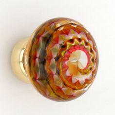Artisan glass knob by Merlin Glass:  gorgeous.