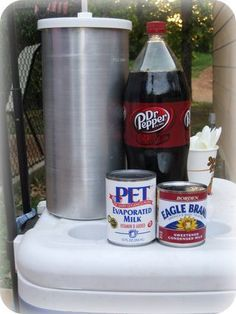 Dr. Pepper Passion (Homemade Ice Cream).  Only uses 3 ingredients.  This may be on my next party menu!