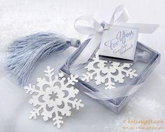 Romantic hollow metal snowflake bookmark   Hot Sale Gift
