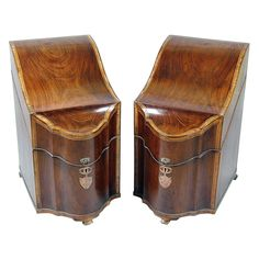 Antique knife boxes to be placed on the sideboard.