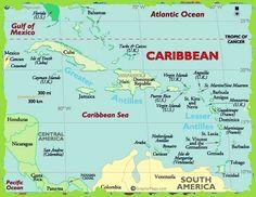 Caribbean Island Map