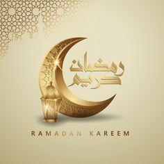 Ramadan Kareem Arabic Calligraphy And Crescent Moon For Greeting Card Mubarak Ramadan, Eid Mubarak Greetings, Ramadan Dp, Wallpaper Ramadhan, Ramadan Kareem Pictures, Ramadan Celebration, Ramadan Background, Rose Gold Wallpaper, Gold Lanterns