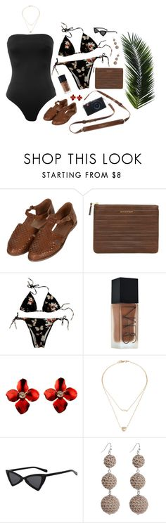 """""""#30Z Sunny"""" by lsaroskyl ❤ liked on Polyvore featuring Topshop, Comme des Garçons, Givenchy and NARS Cosmetics"""