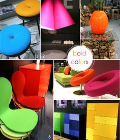 #trends2013, #immcologne, #colors #neon #furniture