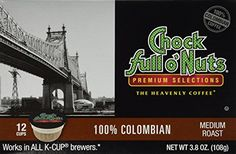 Chock Full ONuts 100 Colombian Coffee 12 CT KCups  Pack Of 2 >>> Read more reviews of the product by visiting the link on the image.