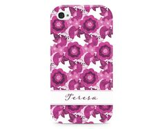 Pretty Flower Pattern Phone Case Personalized by NoondaybyTracey