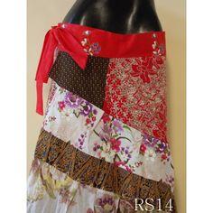patchwork ruffle skirt