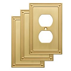 franklin brass classic beaded 1 gang duplex wall plate finish brushed brass