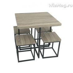 Masa bucatarie WIZ cu scaune mbs-6 nut The Wiz, Modern, Table, Furniture, Design, Home Decor, Trendy Tree, Decoration Home, Room Decor