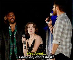 [gifset] Jared reads Jensen's Mind