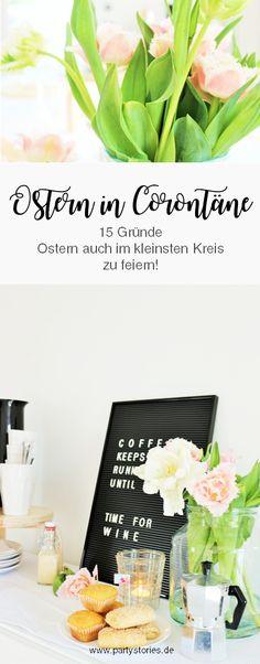 Jep, dieses Jahr ist Ostern etwas ganz Besonders:  Denn Ostern 2020 wird, #Corona und #stayathome sei Dank, besonders familiär, besonders kreativ und vor allem besonders schön! Wie das gehen soll und warum #stayathome, #staythefuckhome, sowie #undjetzterstrecht mehr denn je ein Grund zum Feiern sind.  15 Gründe, Tipps und Ideen gibt's auf dem Blog! // www.partystories.de // #Ostern #Corona #Covid-19 #Ostern2020 #feierntrotzCorona #OsternCoronakrise Blog, Corona, Garlands, Dekoration, Blogging