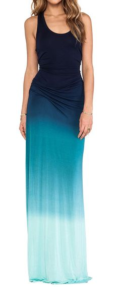 Cute blue ombré maxi dress