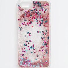 ASOS iPhone 6 Heart Liquid Glitter Case