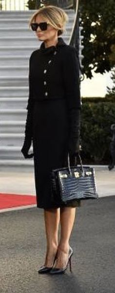 Dressy Outfits, Cute Outfits, Milania Trump Style, Trump Is My President, Gucci Dress, First Lady Melania Trump, Complete Outfits, Fashion Pictures, Celebrity Style