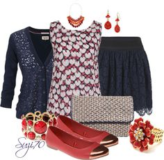 """""""Lace & Print"""" by suzi70 ❤ liked on Polyvore"""