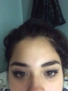Angela took a pic of her brows for me..