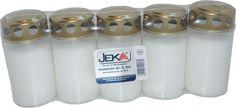 Jeka Grablicht Nr.3 weiß bis zu 50 Stunden - 5 Stück