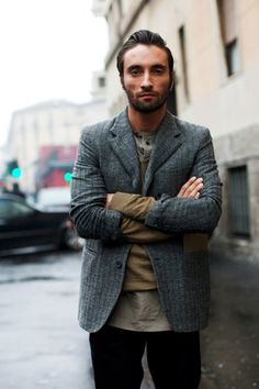 On the Street……Layers & Levels, Milan « The Sartorialist The Sartorialist, Fashion Moda, Mens Fashion, Milan Fashion, Street Fashion, Stylish Mens Outfits, Stylish Clothes, Men Clothes, Look Man