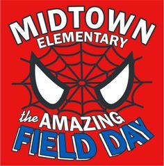 FD0218 - Field Day Spider-Man Design Fields, Field Day, Make It Simple, Spiderman, Shirt Designs, Superhero, T Shirt, Spider Man, Supreme T Shirt