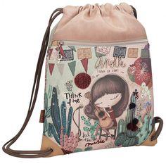 Turnbeutel Anekke Ixchel Music Applikationen Lederimitat Bucket Bag, Clutch, Shopper, Drawstring Backpack, Backpacks, Style, Products, Fashion, Zippers